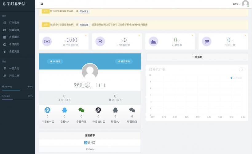 2020彩虹易支付最新新版源码